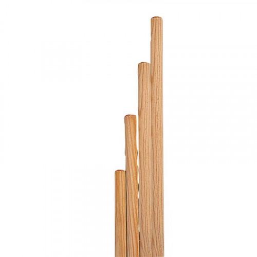 Lot de 10 bâtons de gym en bois (80cm à 140cm)