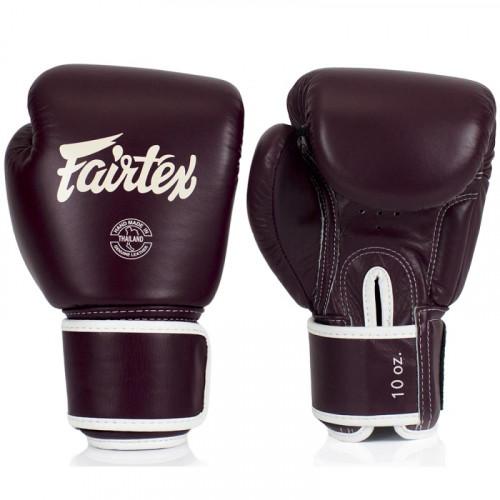 Gants d'entrainement Fairtex FXV1 Bordeaux 8OZ, 10,12,14,16