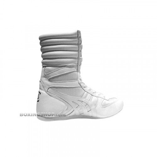 Chaussure Boxe Anglaise Montante Blanche - Champboxing