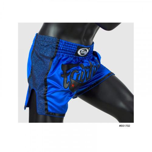 Short de boxe Thaï Bleu/Noir - Fairtex