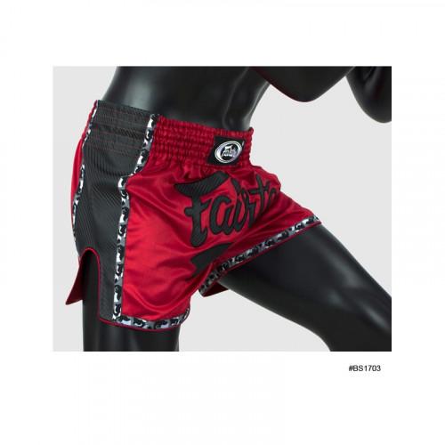 Short de boxe Thaï Rouge/Noir - Fairtex