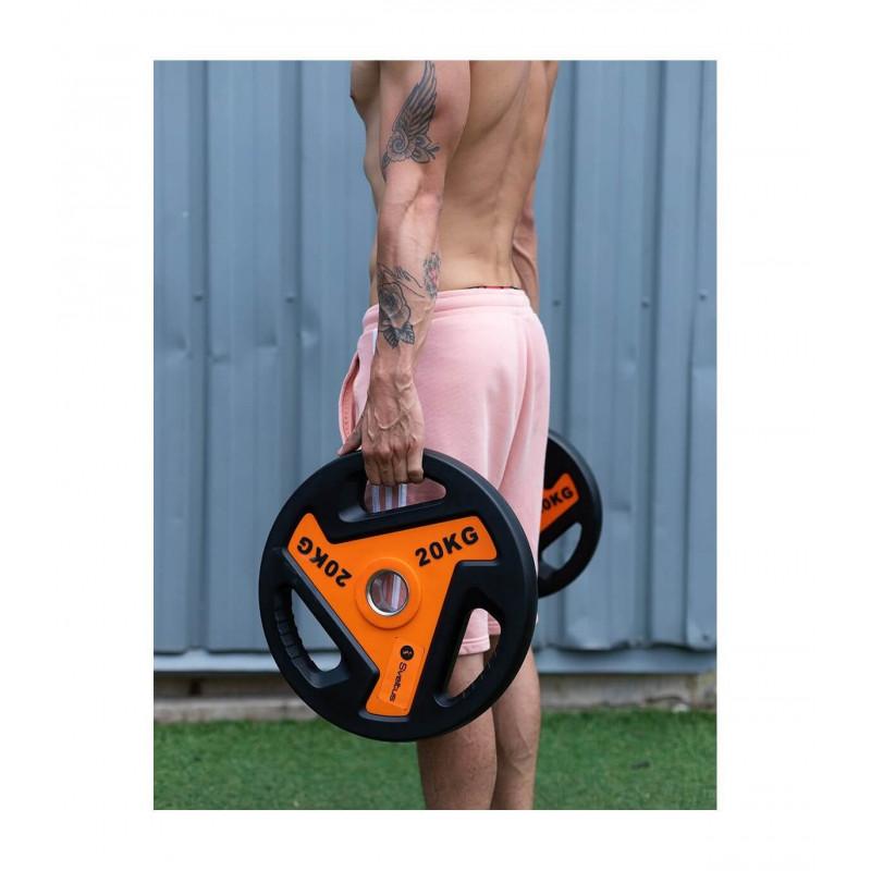 Disque olympique musculation à poignées (2,5 à 20kg)