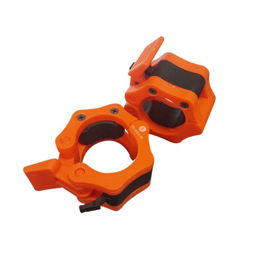 Stop disques musculation olympique orange