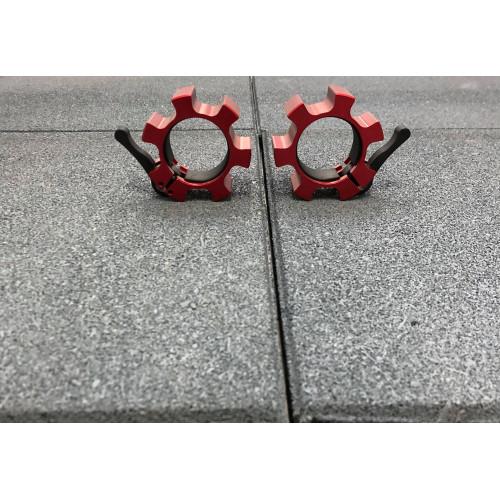 Colliers de serrage musculation olympique Rouge